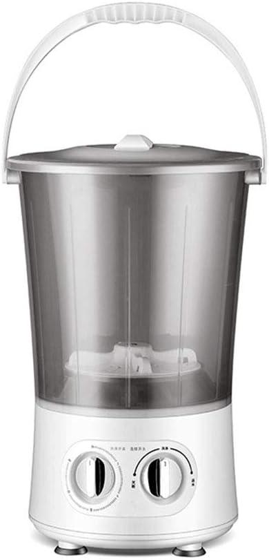 Mini Lavadora Portátil Ropa Interior Calcetines Bebé Niños Lavadora De Cubeta Separada para Cámping RV Viajar,Gris,Two Buckets