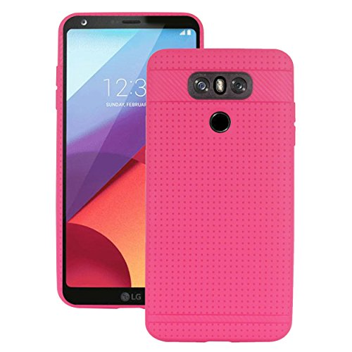 Heartly New Retro Dotted Design Hole Soft TPU Matte Bumper Back Case Cover for LG G6   Pink