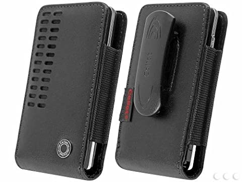 iPhone 6 (4.7-inch) Vertical Bergamo Slide In Leather Case Pouch with Spring Belt Clip - Iphone Vertical Case