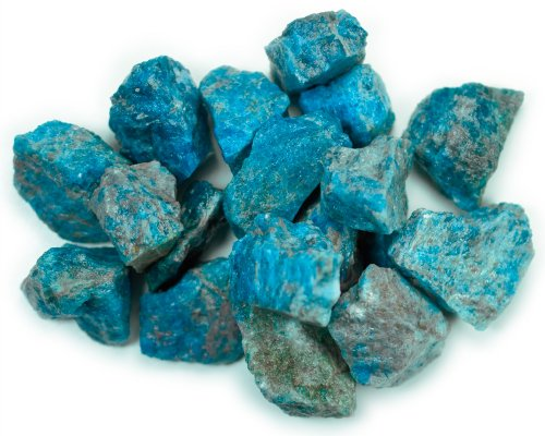 Hypnotic Gems Materials: 1 lb Bulk Rough Apatite Stones from Madagascar - Raw Natural Crystals for Cabbing, Cutting, Lapidary, Tumbling, Polishing, Wire Wrapping, Wicca and Reiki Crystal Healing