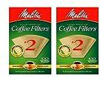 melitta cone 2 - Melitta #622752 100CT #2 BRN Filter, 2 Pack