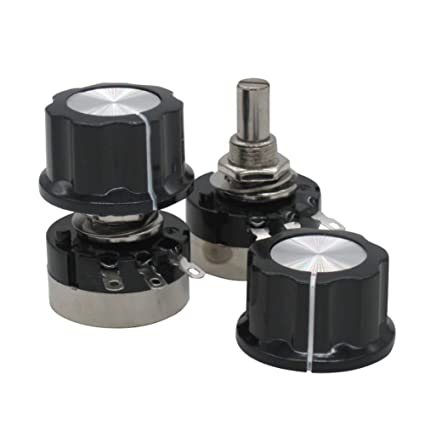 New 2pcs RV24YN20S//B202 2K ohm 6mm Round Carbon Film Rotary Taper Potentiometer