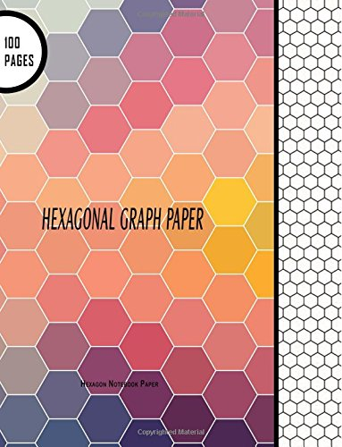 """Number Names Worksheets hexagon graph paper : Hexagonal Graph Paper: Hexagon Notebook Paper: 100 Pages, 8.5"""" x ..."""