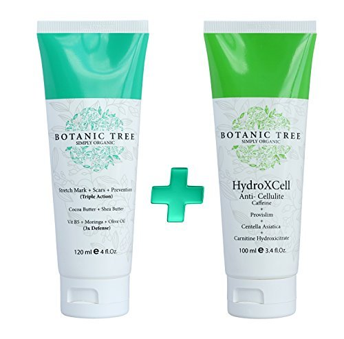 Anti Stretch Mark, Scars and Prevention Cream-Decrease Stretch Marks in 93% of Customers in 2 Months- w/ Organic Cocoa Butter, Shea, Vit E, Moringa,Centella Asiatica and Avocado-The Best For Pregnancy