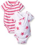 aden + anais Baby Girls' Short Sleeve Kimono Body Suit Two Pack