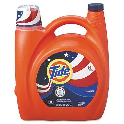 Tide 23064 Ultra Liquid Laundry Detergent, Original, 150 oz Pump Dispenser, 4/Carton by Tide