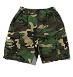 Wofupowga Boys Summer Camo Rugged Pull-On Hip-Hop Tactical Cargo Shorts Camo2 10/11T