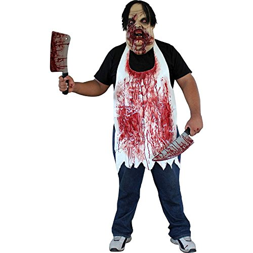 Killer Chef Costumes (Blood Spattered Butcher Apron)