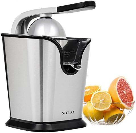 Electric Citrus Juicer Press 160-Watt Stainless Steel Orange Juice Squeezer by Secura