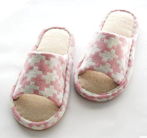 Cattior Zomer Dames Leuke Slippers Huis Indoor Slippers Open Teen Roze
