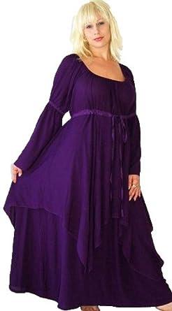 e18fa52de00 Amazon.com  Lotustraders Lagenlook Peasant Renaissance Fair Long Sleeved  Dress G922  Clothing
