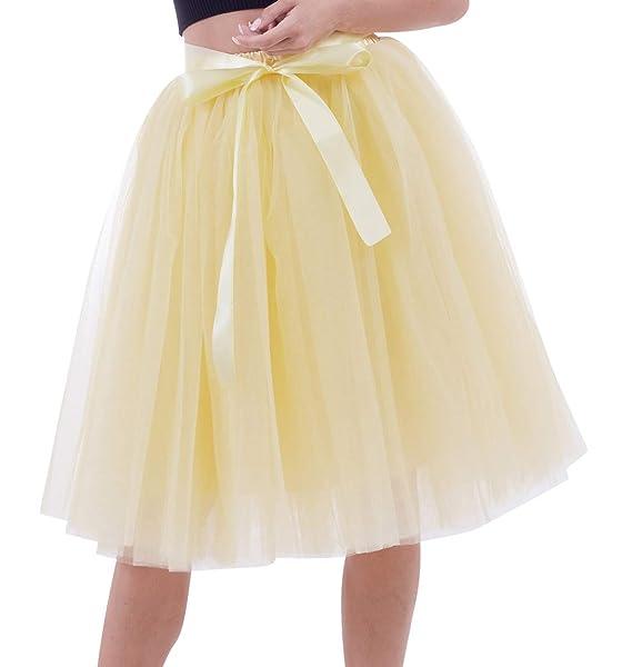 nuevos productos para venta más caliente muchos de moda Faldas de Tul Falda Tutu Mujer Falda Tul Midi 6 Capas ...