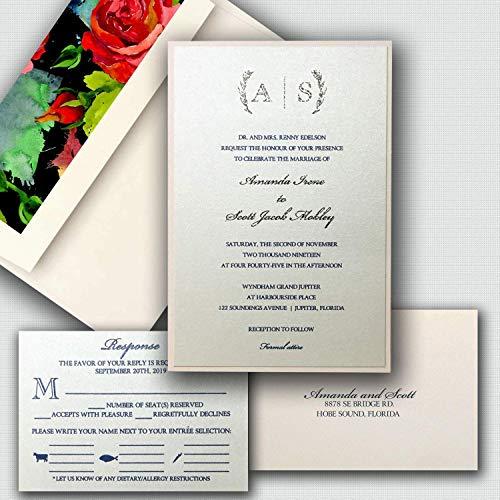 Amazon.com: Amanda Wedding Invitations Elegant Wedding Invitation ...