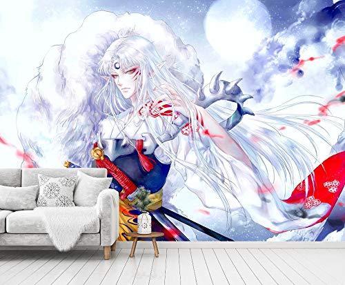 イヌヤシャ ファッション アニメ アニメ 壁画 壁画 壁画 印刷 デカール 壁画 (H)350*(W)245cm A B07T3T6ZSS  (H) 350 * (W) 245cm