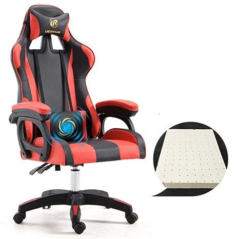 Amazon.com: Silla de videojuegos para oficina de carreras ...