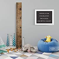 Back40Life - Heirloom Engraved Series - (The Establishment) Wooden Growth Chart Height Ruler