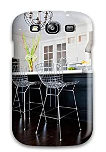Top Quality Protection Transitional Kitchen With Orbit Chandelier And Bertoia Barstools Case Cover For Galaxy S3