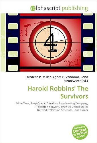 Buy Harold Robbins' The Survivors: Prime Time, Soap Opera, American
