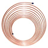 "Nickel/Copper Brake Line Tubing Coil, 3/16"" x 25'"