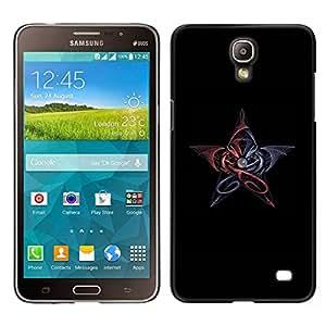 // PHONE CASE GIFT // Duro Estuche protector PC Cáscara Plástico Carcasa Funda Hard Protective Case for Samsung Galaxy Mega 2 / Ancient Magic Dragons /