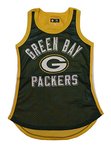 G-III 4her by Carl Banks Green Bay Packers Women's Green Comeback Mesh Tank Top Large