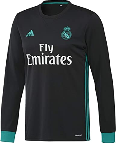 adidas A JSY LS - Camiseta 2ª Equipación Real Madrid 2017-2018 - Champions League Hombre: Amazon.es: Ropa y accesorios
