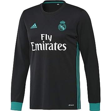 adidas A JSY LS Camiseta 2ª Equipación Real Madrid 2017-2018-Champions League,