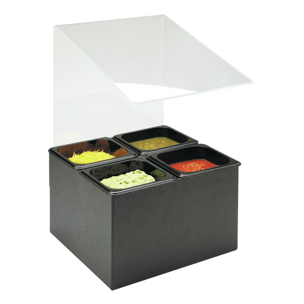 Cal-Mil 658 Classic Salsa/Condiment Bar, 15'' Length x 14'' Width x 20'' Height, Black by Cal Mil (Image #1)