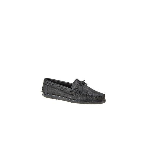 Minnetonka 899E Moosehide Classic, Mocasines para Hombre, Negro (Black), 48 EU: Amazon.es: Zapatos y complementos