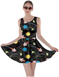 Womens Rick Morty Meeseeks Destroy Mooncake Final Space Mrs Frizzle Space Skater Dress, XS-5XL