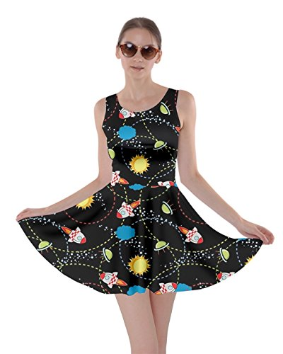XS Mrs Meeseeks Space Morty Frizzle Womens CowCow Mooncake Final Skater Rick Destroy 5XL Space Dress Black x0F8On