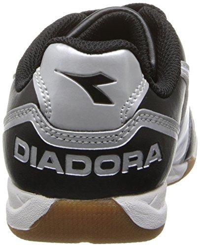 Diadora Capitano ID JR Indoor Soccer Shoe, Black/White, 3.5 M US Big Kid by Diadora (Image #2)