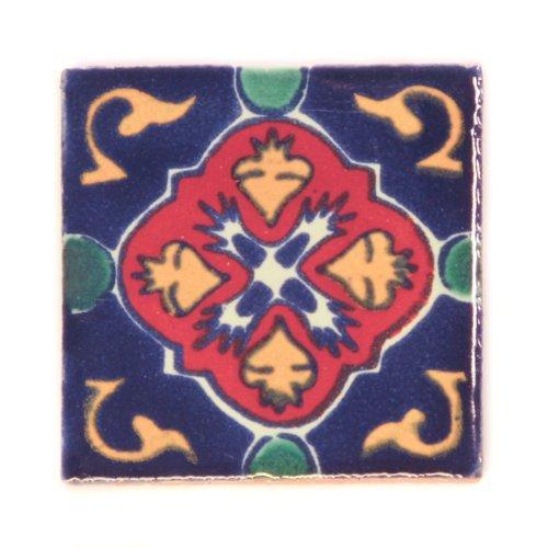 Azulejos Mexicanos Artesanales de Talavera de 5cm - Azulejo individual Tumia LAC T12859-11