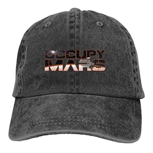 Occupy Mars Orbit Spacex Dad Hat Adjustable Denim Hat Classic Baseball Cap