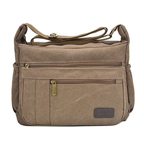 Fabuxry Light Weight Canvas Shoulder Bag for Women