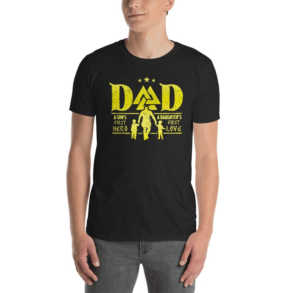 Viking Dad A Daughters First Love A Sons First Hero T Shirt