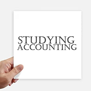 DIYthinker Short Phrase Studying Accounting Sticker Tags Wall Picture Laptop Decal Self Adhesive