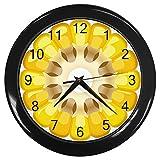Cut Corn Cob Black Frame Kitchen Wall Clock