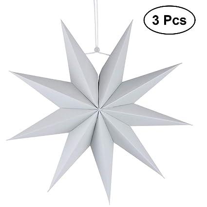 HEALIFTY - Lámpara de techo de papel (3 unidades, 30 cm ...