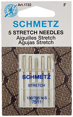 (Schmetz 1722 Stretch Needles, 130/705 H-S 75/11, 5 per pack)