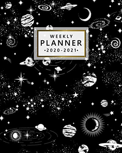 Weekly Planner 2020-2021: Two Year Monthly Weekly Daily Organizer & Planner | Spiral Galaxy 2 Year Schedule Agenda with…