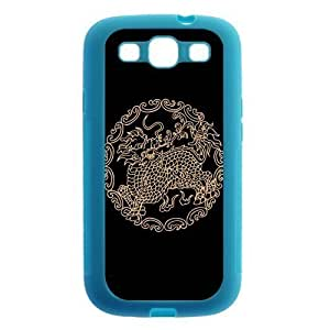 Cool Dragon Protective Blue Rubber Colorful Cover Case for SamSung Galaxy S3