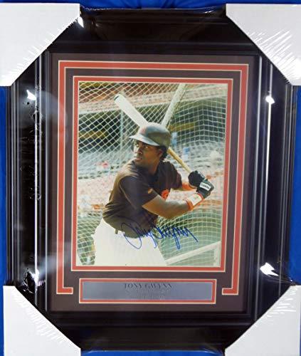 Tony Gwynn Autographed Photo - Tony Gwynn Autographed Framed 8x10 Photo San Diego Padres Beckett BAS #A19588