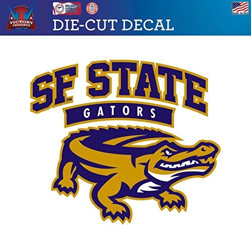 Victory Tailgate San Francisco State University Gators Die-Cut Vinyl Decal Logo 1 (Approx 6x6)