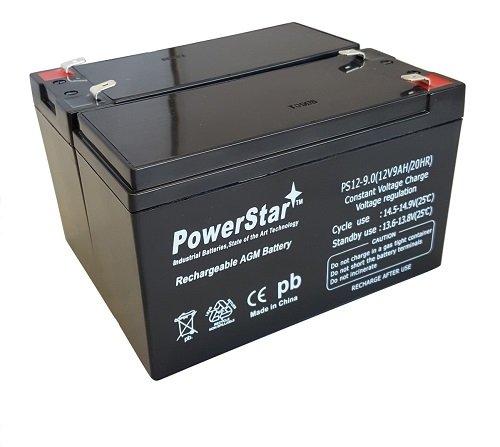 PowerStar Replacement 12V 9AH SLA Battery for Razor e200 / e200s / e225 / e300 / e300s / e325-2PK by POWERSTAR