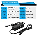 eBoot Power Supply AC Adapter Charger Cable Cord for Nintendo Wii U GamePad