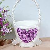 elegantstunning Romantic Heart-shaped Flower Basket for Wedding Parties,Purple
