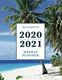 "At a Glance 2020-2021 Weekly Planner: Tropical Beach 2 Year / 24 Month Planner for Desk - Jan 2020 - Dec 2021 Calendar | Size: 8.5"" x 11"""