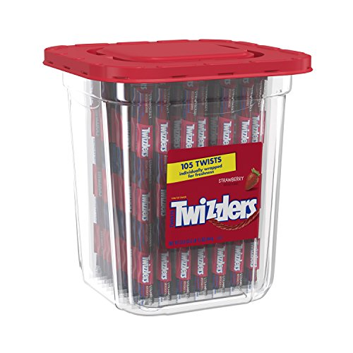 TWIZZLERS Licorice Candy, Strawberry, 105 Count (Pack of