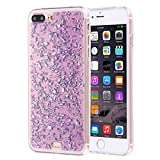 KrygerShield® Scattered Platinum iPhone 7 Plus Gel Case Purple